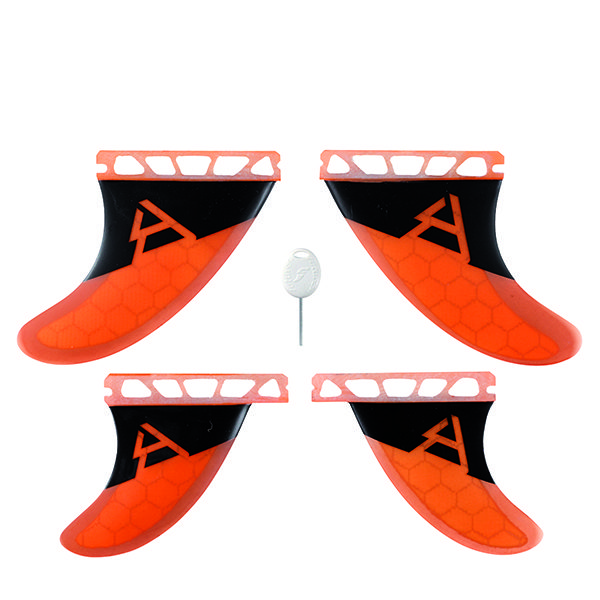 Brunotti Futures Quad Honeycomb kitesurf fins